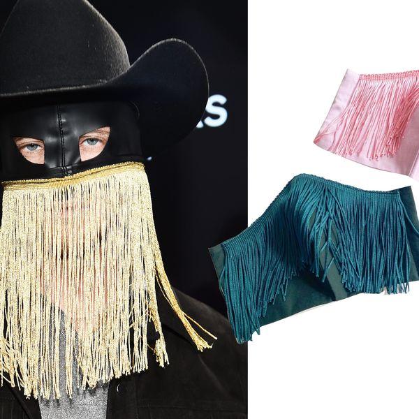 Colorful Western Style Fringe Mask