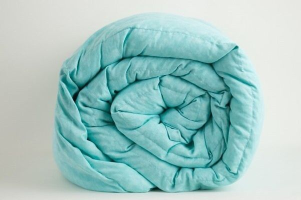 Mosaic Light Aqua Weighted Blanket