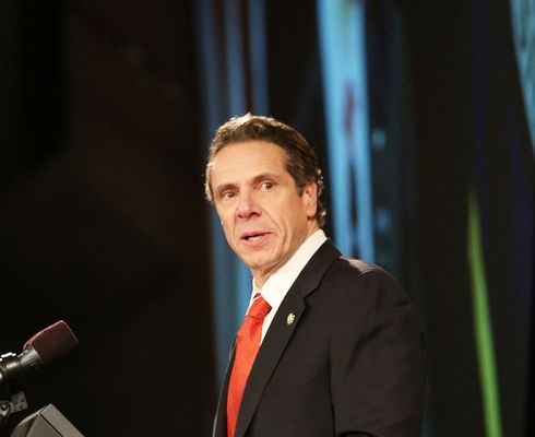 ALBANY, NY - JANUARY 08:  New York State Governor Andrew Cuomo gives fourth State of the State address on January 8, 2014 in Albany, New York.  Among other issues touched on at the afternoon speech in the state's capital was the legalization of medical marijuana, and New York's continued economic recovery. Cuomo has been discussed as a possible Democratic candidate for the 2016 presidential race.  (Photo by Spencer Platt/Getty Images)