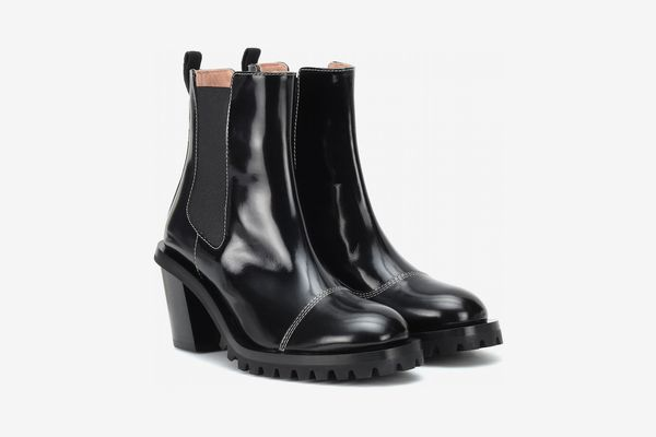 Acne Patent Leather Ankle Boots