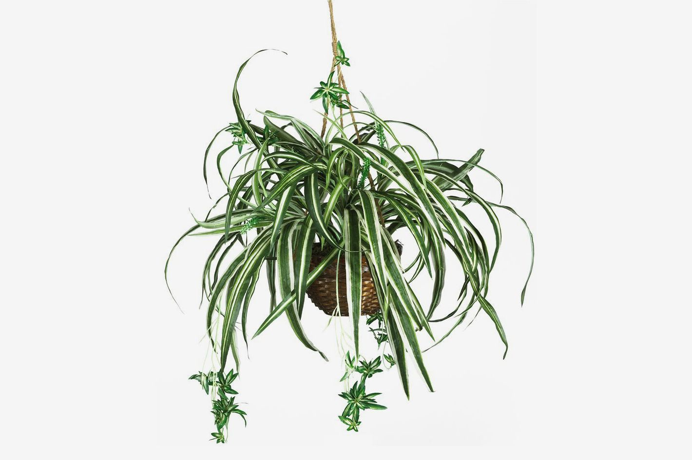 Nearly Natural Spider Hanging Basket Decorative Silk Plant