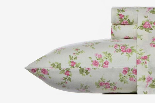 Laura Ashley Flannel Sheet Set in Audrey Pink (Queen)