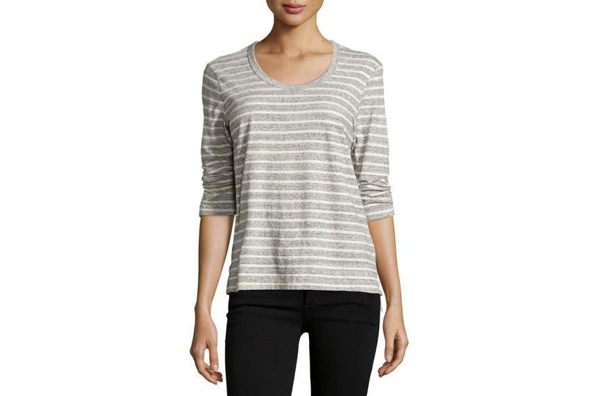 James Perse 3/4-Sleeve Relaxed Tee