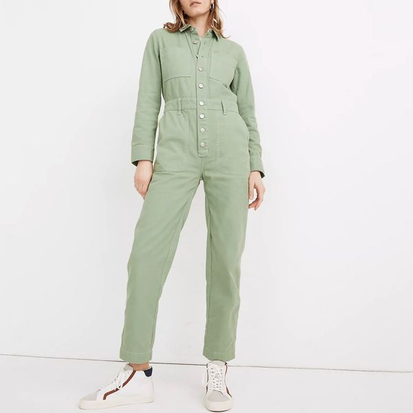 Garment-Dyed Relaxed Coverall Jumpsuit