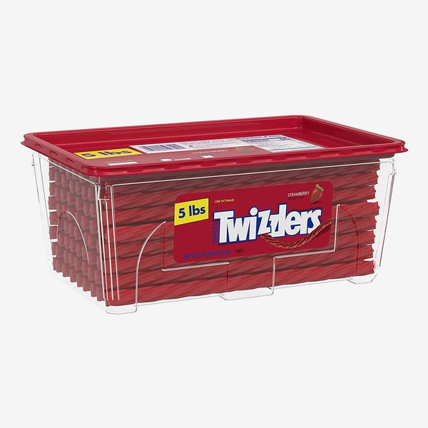 Twizzlers Licorice Candy, Strawberry, 5 lb.