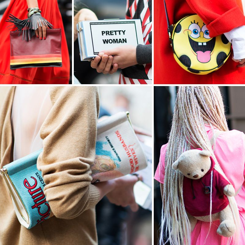 363db8fd47 The 40 Kookiest Street-Style Bags From Fashion Month
