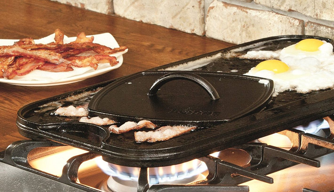 Lodge LPGI3 Cast Iron Reversible Grill/Griddle, Black