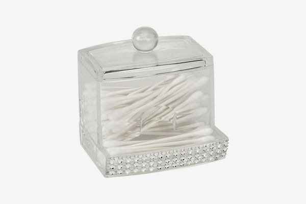 Laura Ashley Q-Tip Box in Pave Diamond Design
