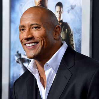 Actor Dwayne Johnson arrives at the Premiere of Paramount Pictures'