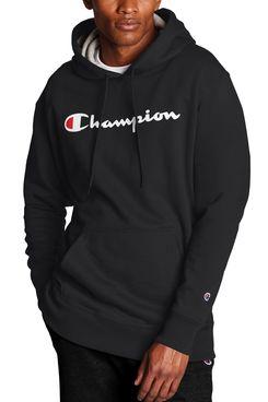 Champion Men's Powerblend Graphic Fleece Pullover Hoodie