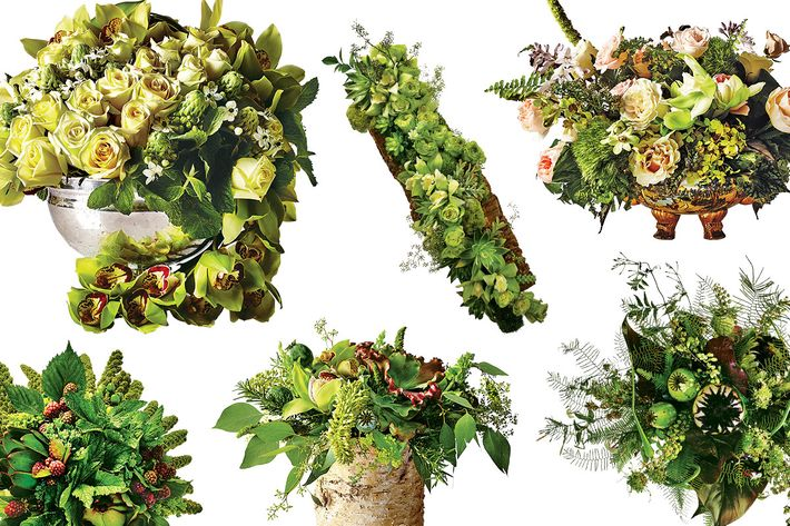 Winter greens make statement bouquets and centerpieces.