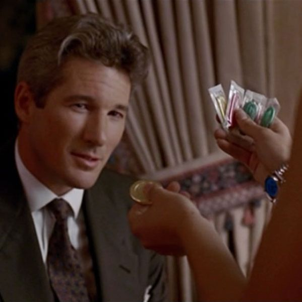 Richard Gere and Julia Roberts going over condom choices in Pretty Woman — The Strategist's post on best condoms.