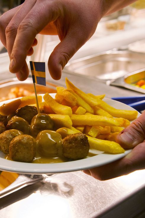 Meat balls are served in a restaurant of Ikea in Amsterdam on March 23, 2013. Swedish furniture giant Ikea said last week it had started gradually reintroducing meatballs in its restaurants worldwide after horsemeat was found in the product last month.
