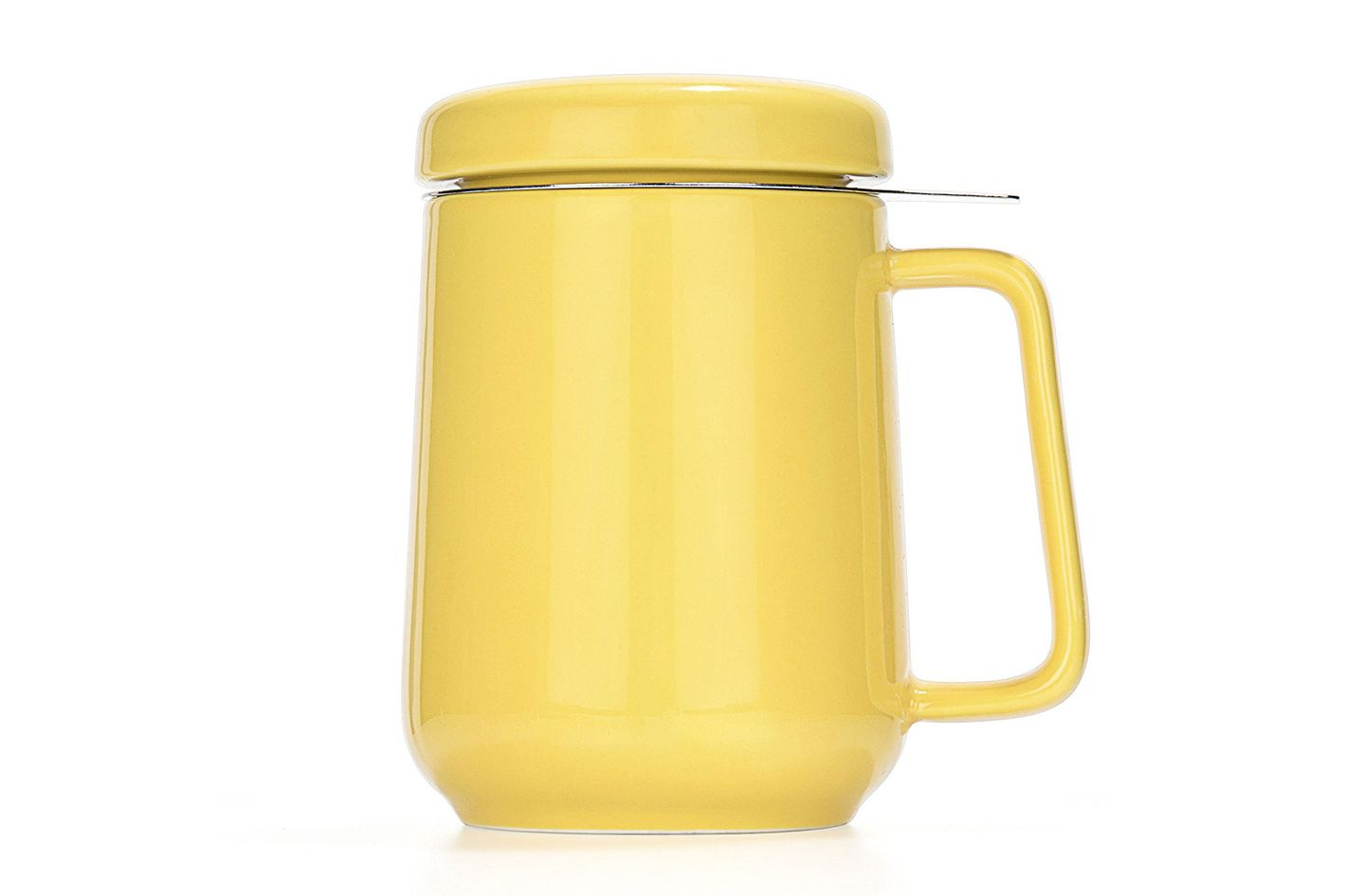Tealyra — Peak Ceramic Yellow Tea Cup Infuser