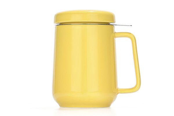 Tealyra — Peak Ceramic Yellow Tea Cup Infuser