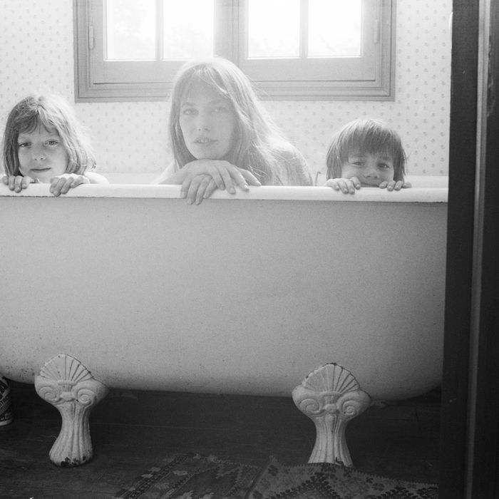 Jane Birkin with daughters Kate Barry and Charlotte Gainsbourg.