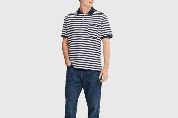 Uniqlo X JWA Dry-Ex Striped Short-Sleeved Polo Shirt