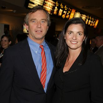 NEW YORK - MARCH 12: Robert F. Kennedy Jr., president of the Waterkeeper Alliance, a non-governmental organization that promotes clean water, and his wife Mary Richardson Kennedy attend the premier of