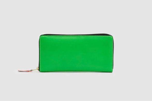 Comme des Garçons Super Flou Leather Wallet in Green