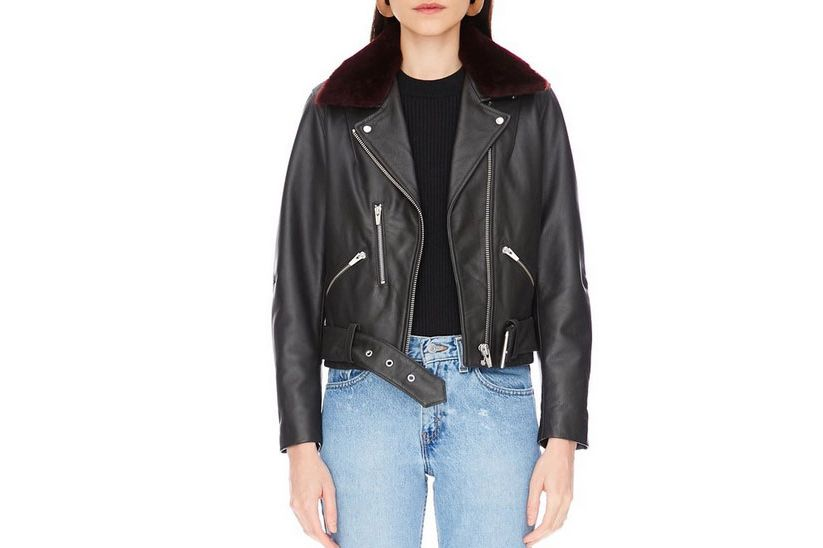 National Leather Jacket Charcoal