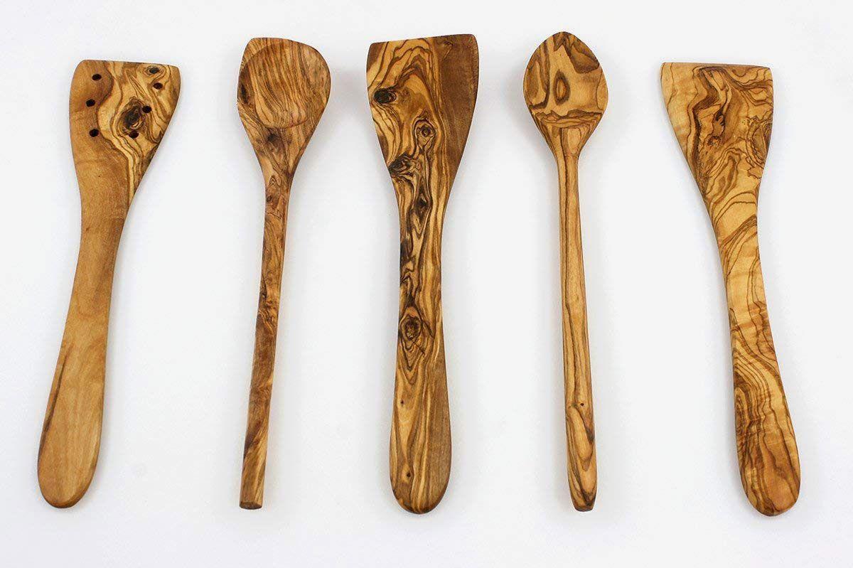 Tramanto Olive Wood Utensils Set