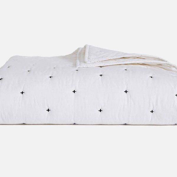 white brooklinen summer quilt