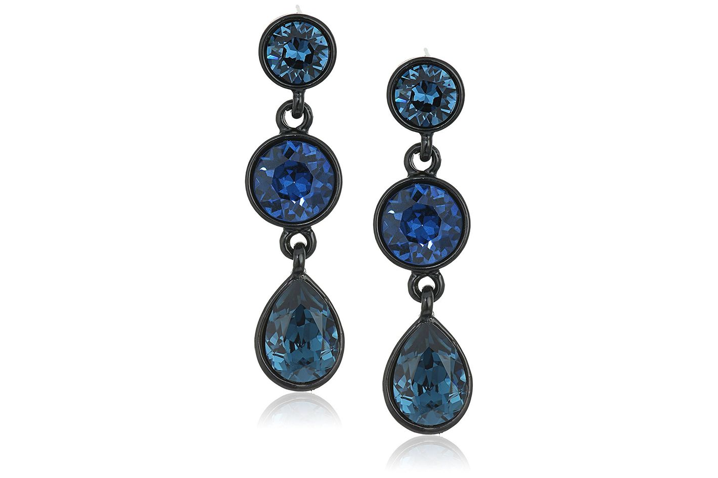 Kenneth Jay Lane 3 drop post earrings