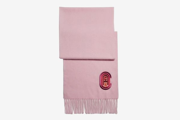 Coach Signature Embroidered Muffler, Light Pink