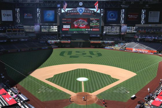 PHOENIX, AZ - JULY 09:  General view at Chase Field on July 9, 2011 in Phoenix, Arizona.  The 2011 MLB All-Star game will be held on July 12, at Chase Field.  (Photo by Christian Petersen/Getty Images)