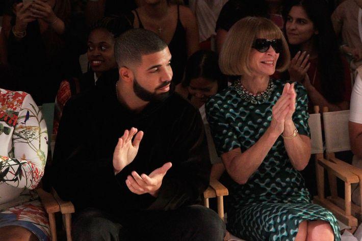 Drake singing the lyrics to