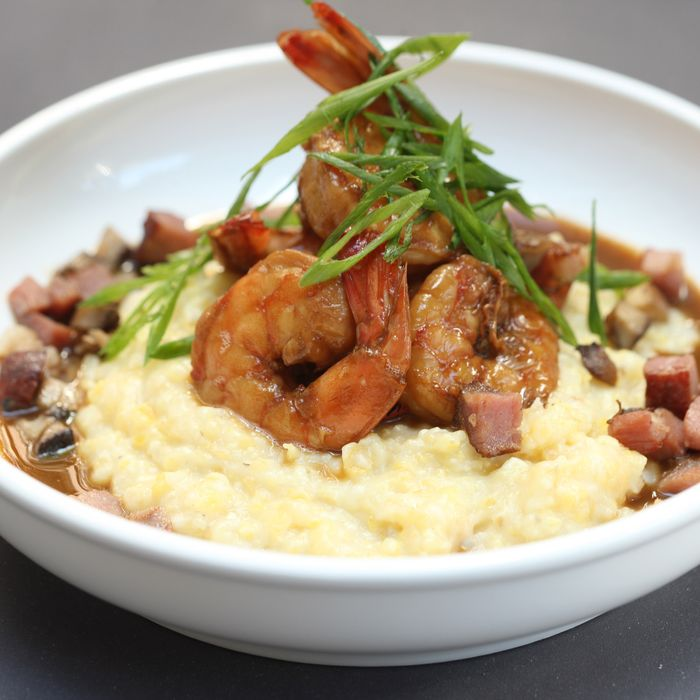 Shrimp and grits from Birds & Bubbles, one of this month's biggest openings.