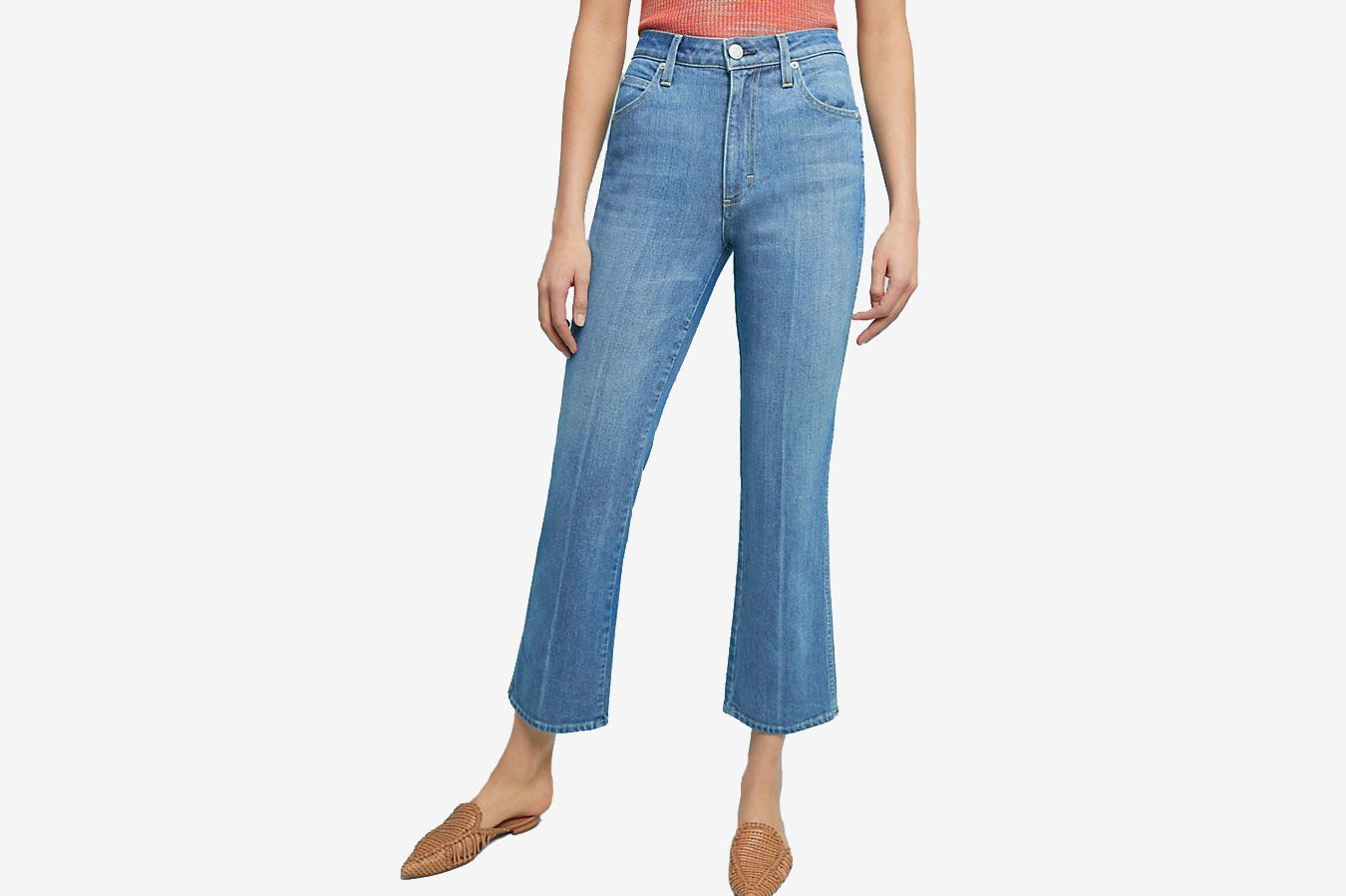 AMO Bella Ultra High-Rise Cropped Bootcut Jeans