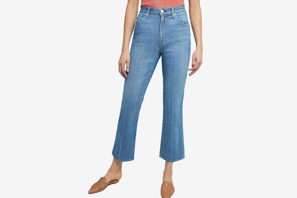 AMO Bella Ultra High-Rise Cropped Bootcut Jeans