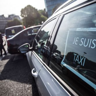 French Taxi Drivers Protest Over Uber Technologies Inc.'s Car Sharing Service