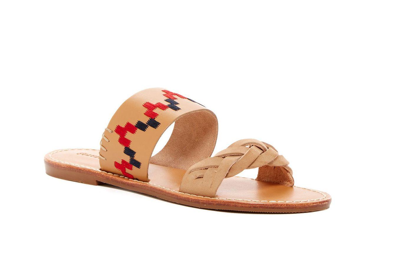 Soludos Embroidered Braided Slide Sandal