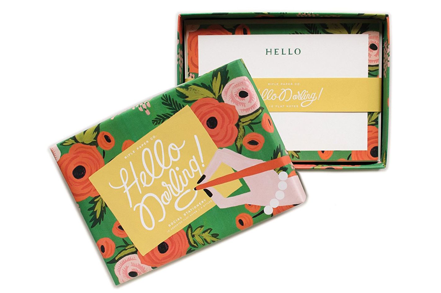 Hello Darling Social Stationery Flat Note Cards by Rifle Paper Co.