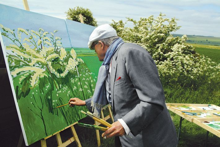 "DAVID HOCKNEY PAINTING ""WOLDGATE BEFORE KILHAM"" 2007© DAVID HOCKNEYPHOTO CREDIT: JEAN-PIERRE GONCALVES DE LIMA"