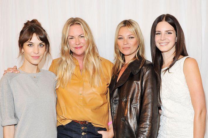 Alexa Chung, Emma Hill, Kate Moss, Lana Del Ray.