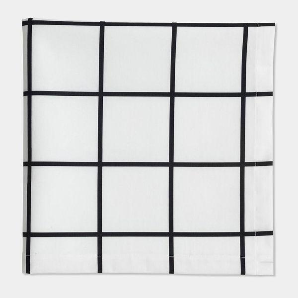 Unison Home Grid Black Napkin