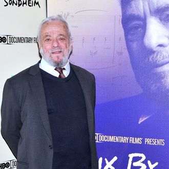 NEW YORK, NY - NOVEMBER 18: Composer Stephen Sondheim attends HBO's New York Premiere of