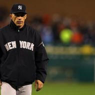 DETROIT, MI - OCTOBER 16: Manager Joe Girardi of the New York Yankees walks back to the dugout against the Detroit Tigers during game three of the American League Championship Series at Comerica Park on October 16, 2012 in Detroit, Michigan. (Photo by Jonathan Daniel/Getty Images)