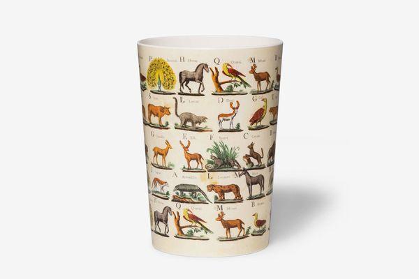 John Derian for Target Melamine Wastebasket Animal Print