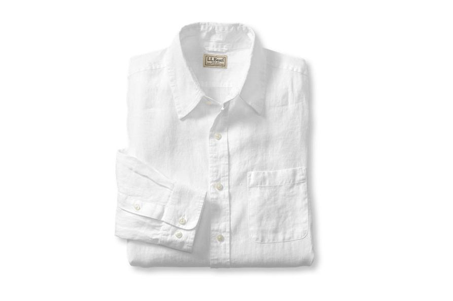Linen Shirt, Slightly Fitted Long-Sleeve