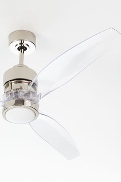 Horchow Sonet Polished Nickel Ceiling Fan, 52