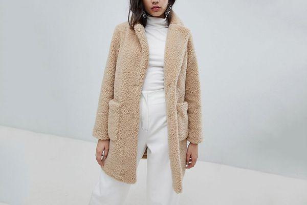 Asos New Look Teddy Coat