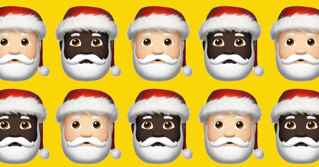 Why Is Emoji Black Santa Sad, But White Santa Is Happy?