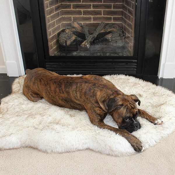 Puprug Faux Fur Memory Foam Orthopedic Dog Bed