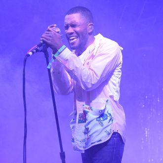 Artist Frank Ocean performs during the 2014 Bonnaroo Music & Arts Festival on June 14, 2014 in Manchester, Tennessee.