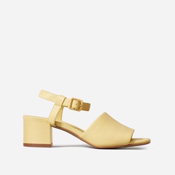 Everlane The Block Heel Sandal in Canary