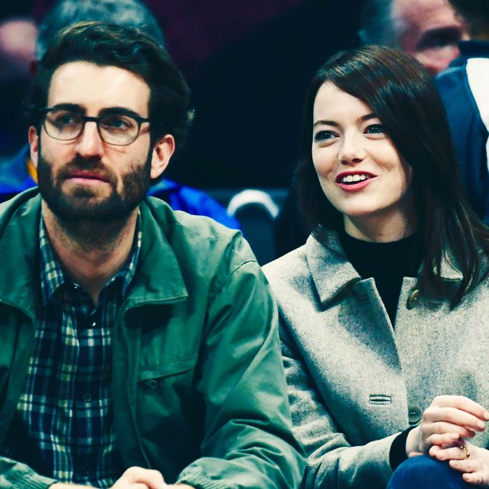Dave McCary and Emma Stone.